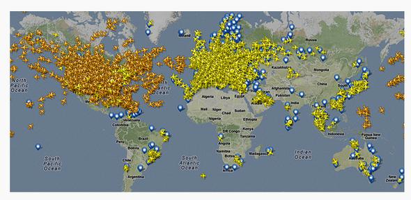 Connaître en temps réel le mouvement des avions dans le ciel. | Le