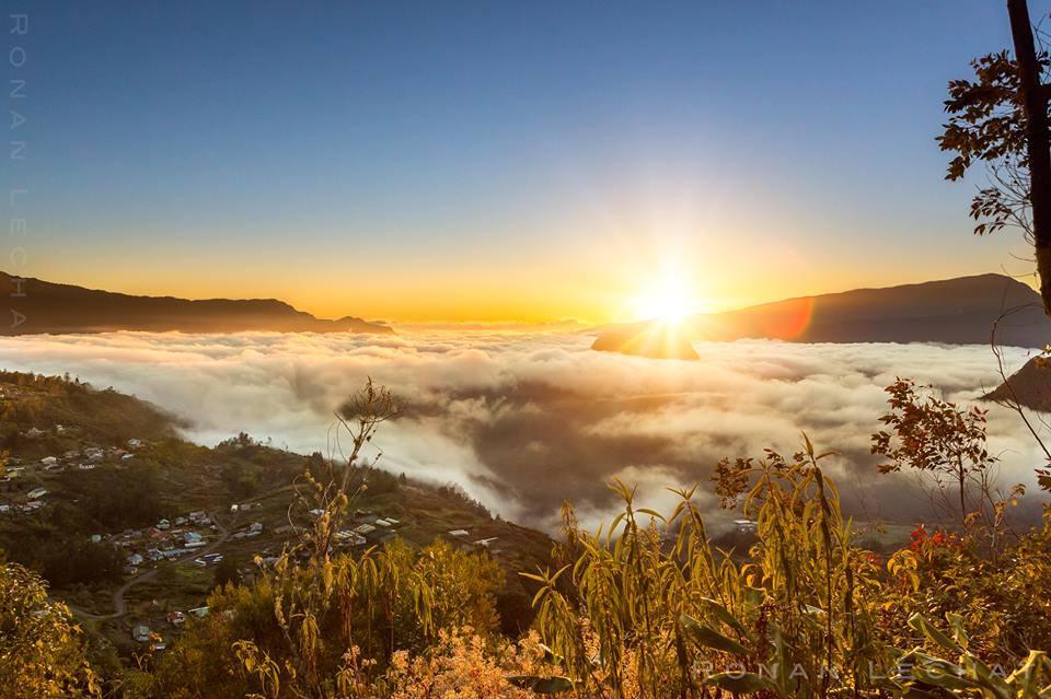 Levers et couchers du soleil sur l 39 le de la r union le - Lever et coucher du soleil est ouest ...